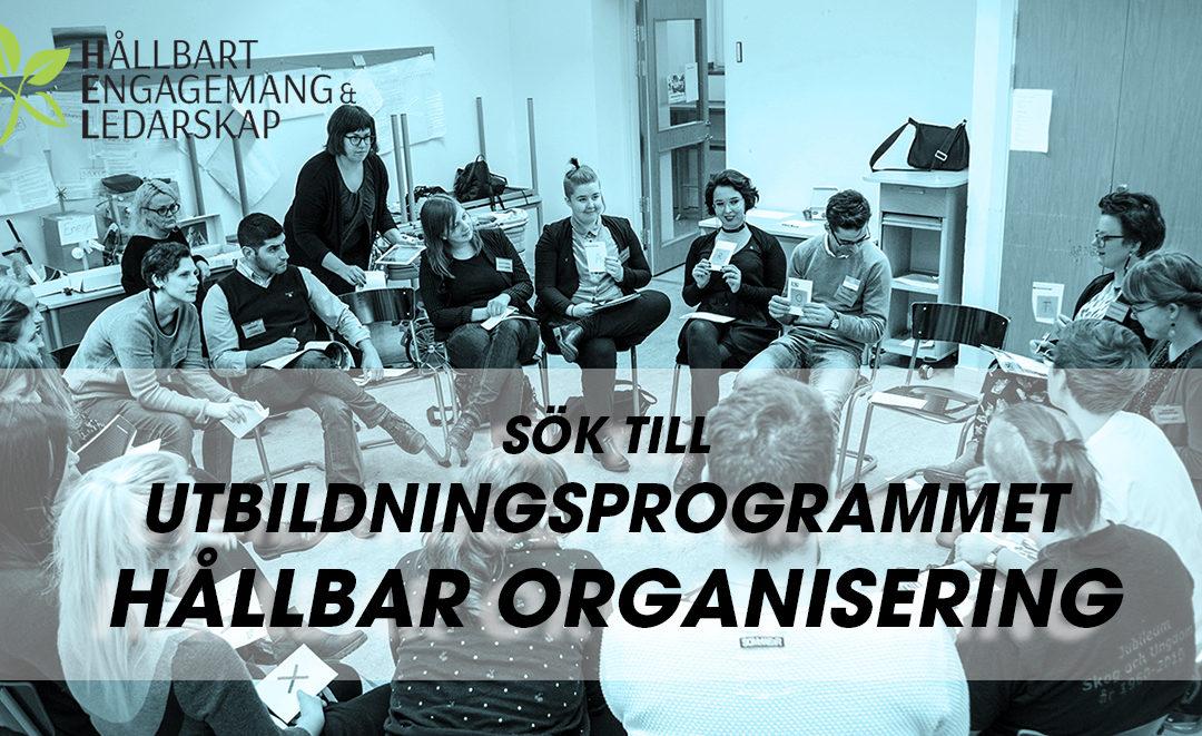 Ansök till utbildningsprogrammet Hållbar Organisering 2019