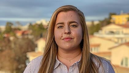 Alice Bergholtz är LSU:s kandidat till Europarådets kommitté för ungdomsfrågor