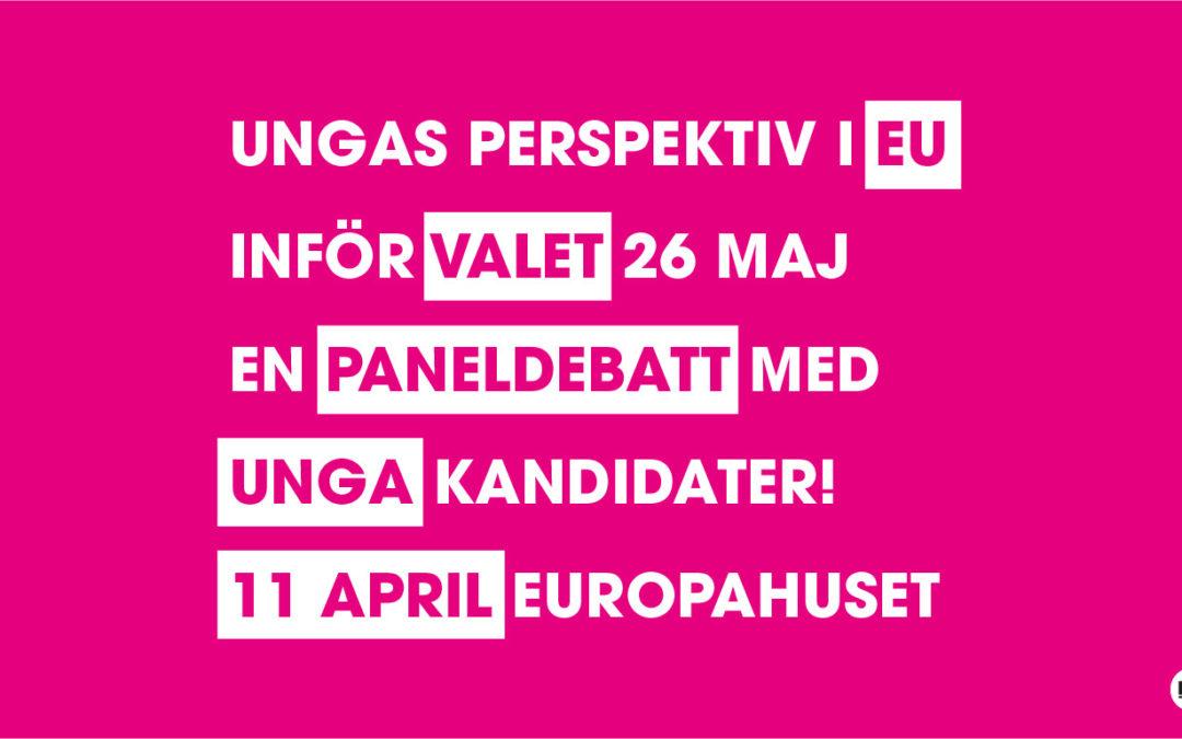 Paneldebatt: unga EU-kandidater