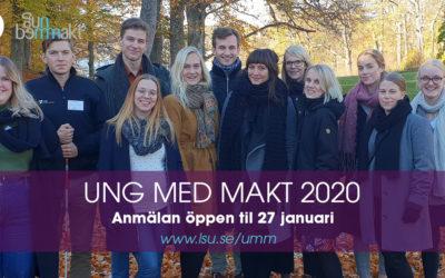 Ansökan Ung Med Makt 2020