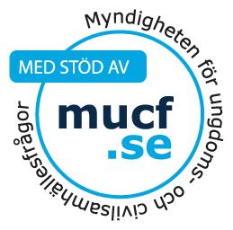 MUCFs bidragsstämpel. Med stöd av mucf.se.