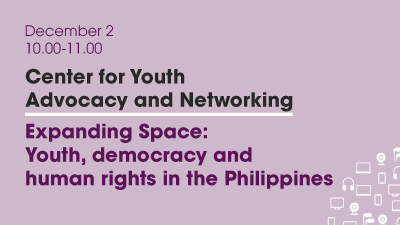 Join our Webinar! Expanding Space – youth, democracy and human rights in the Philippines