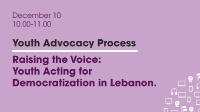 Webinar: Raising the Voice: Youth Acting for Democratization in Lebanon