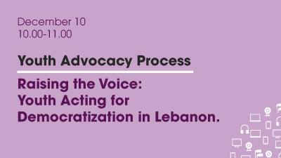 Webinar: Raising the Voice: Youth Acting for Democratization in Lebanon