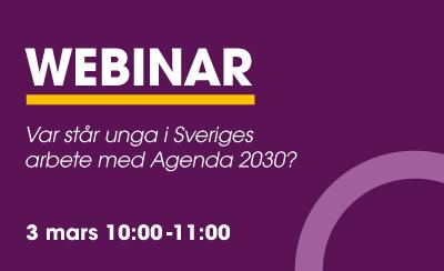 Var står unga i Sveriges arbete med Agenda 2030?