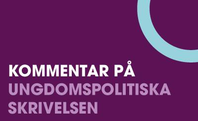 LSU:s kommenterar regeringens ungdomspolitiska skrivelse